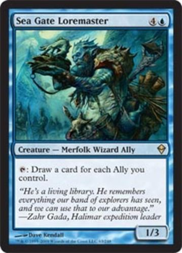 Sea Gate Loremaster Magic the Gathering mtg blue merfolk ...