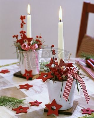 red star decorative candles