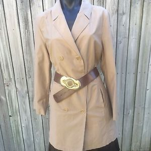 Dolce & Gabbanna Made In Italy Preloved Beige Trench Coat Size 46, Medium