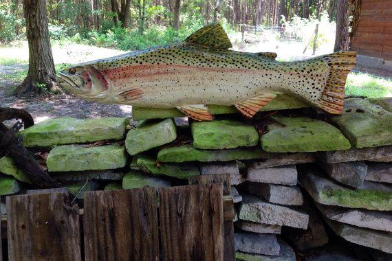 Trucha arco iris 24 deporte pesca madera motosierra por oceanarts10