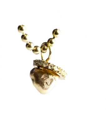 Solid gold heart pendant, Fairtrade gold, 18k gold