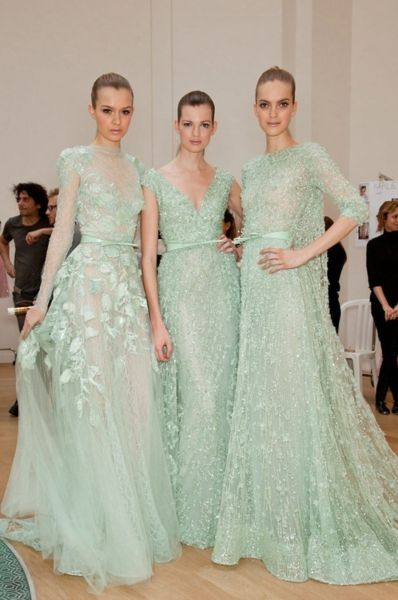 Mint Green Elie Saab, I guess I could wear one of these for my next red carpet appearances :)