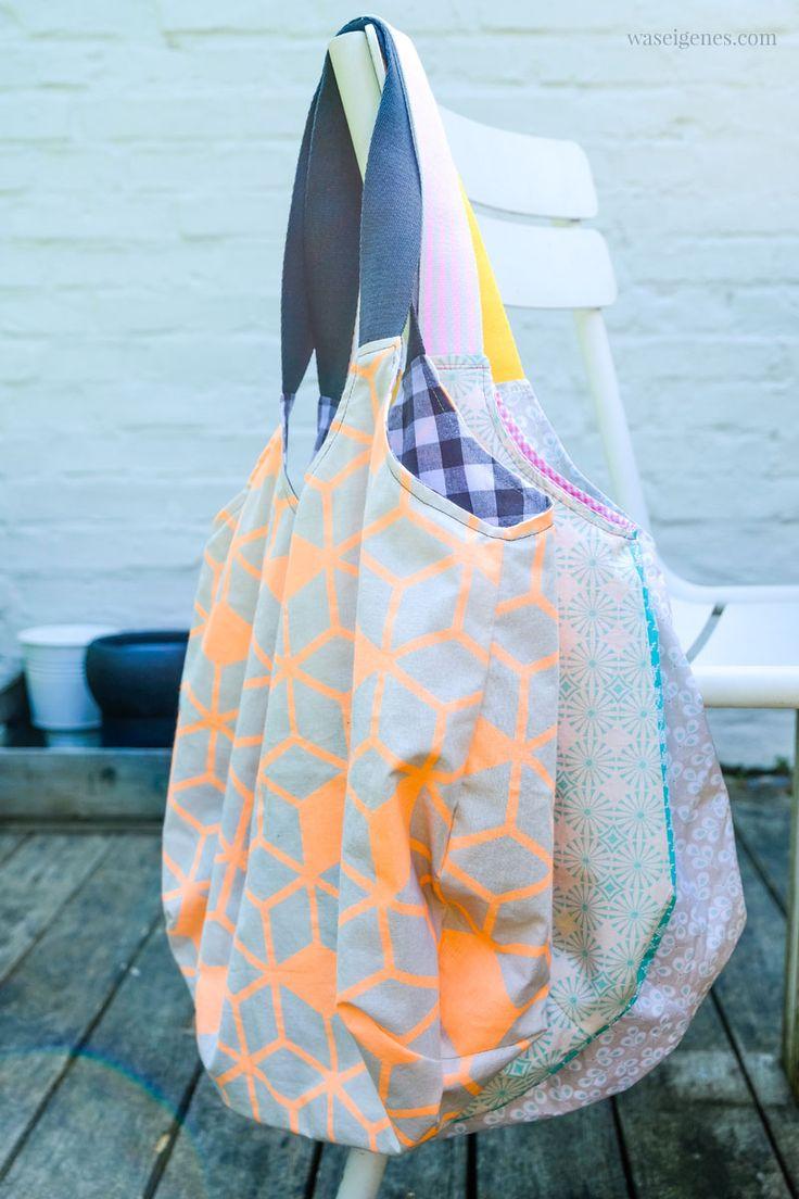 "DIY ""Heinrich"" shopping bag – super practical shopping bag – sewing instructions …   – DIY Nähideen und Schnittmuster / sewing patterns"