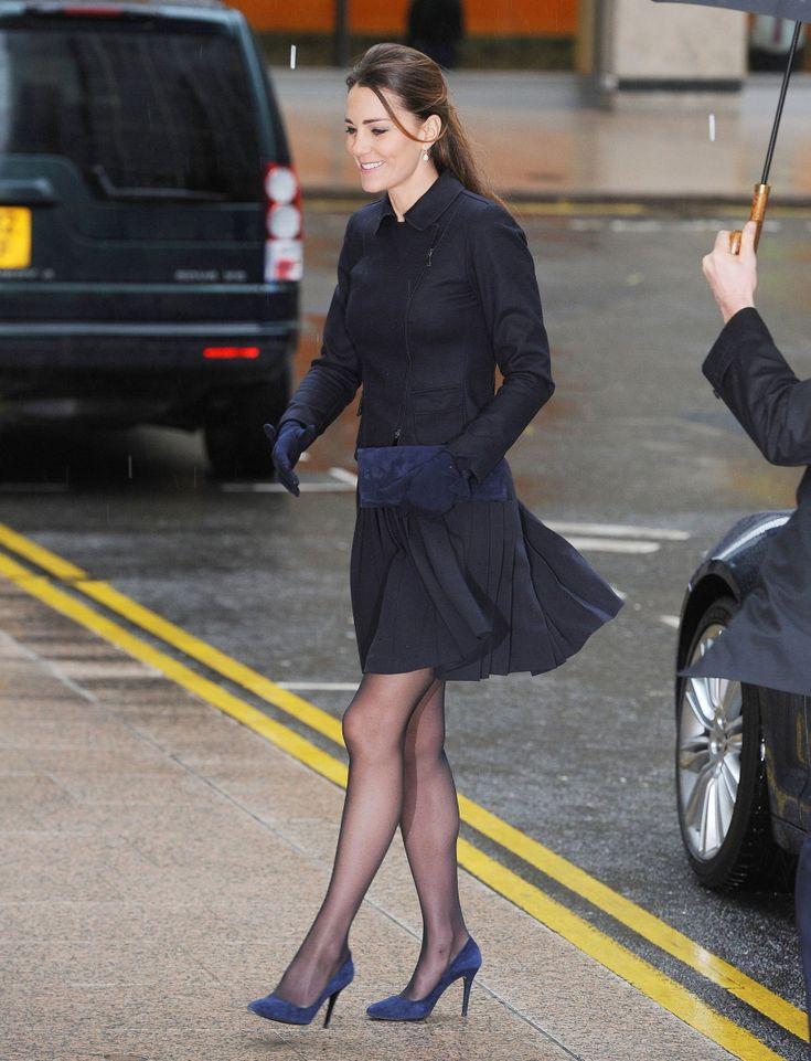 Duchess Kate in a MaxMara coat in London.