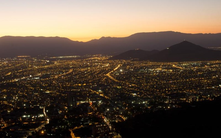 #Santiago de #Chile at night. #nightpics #sundown