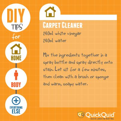 DIY Carpet Cleaning Recipe