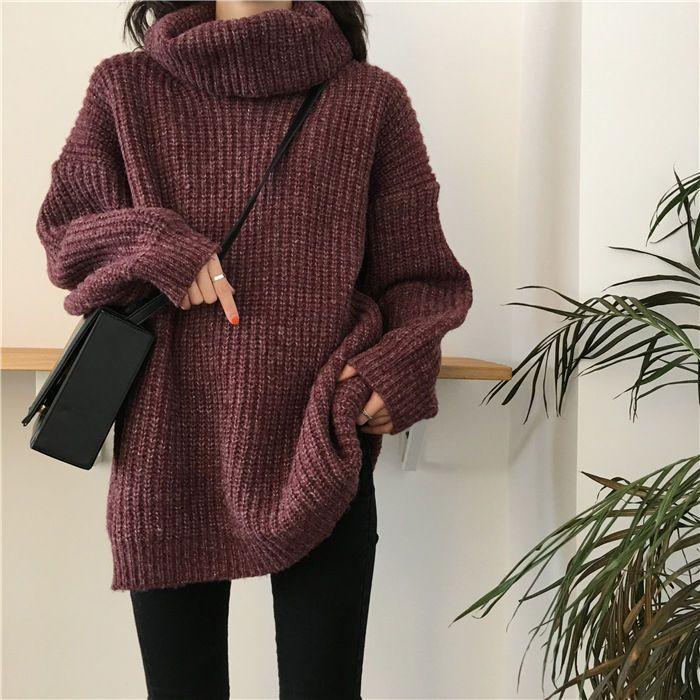 Moon City - Turtleneck Sweater via yesstyle