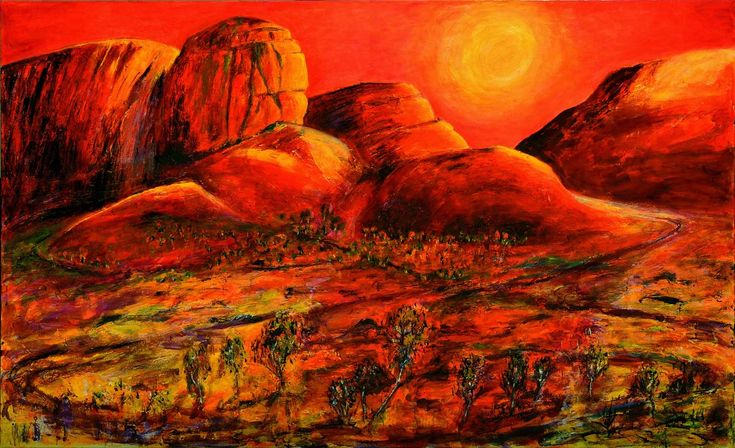 SOLD 'The Great Outback' This painting of the Australian Outback sold over the Internet to a buyer in the USA for his Arizona Ranch. #JeremyHolton  #Australia #Painting #Art