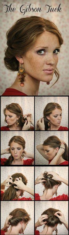 The Gibson Tuck - DIY Step By Step Hair Tutorial - Hairstyles & Haircuts | Hairstyles & Haircuts