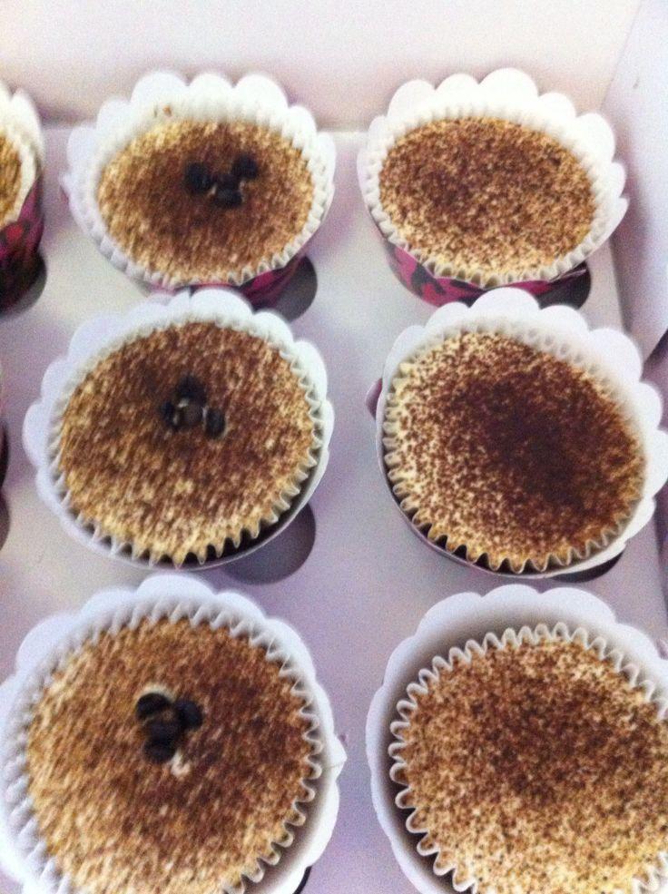 Tiramisu cupcakes with mascarpone cheese
