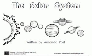 Printable Book About the Planets: The Solar System | A to Z Teacher Stuff Printable Pages and Worksheets