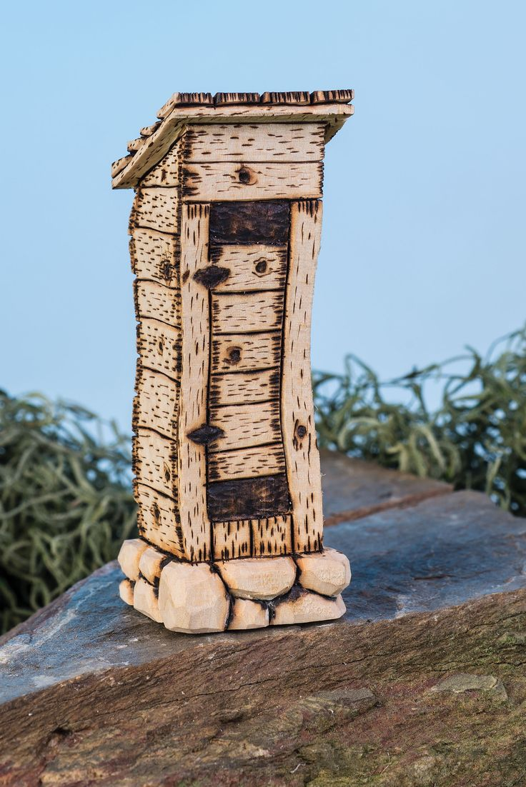 This outhouse by gary fenton is fun to carve and easy to for Learning wood carving