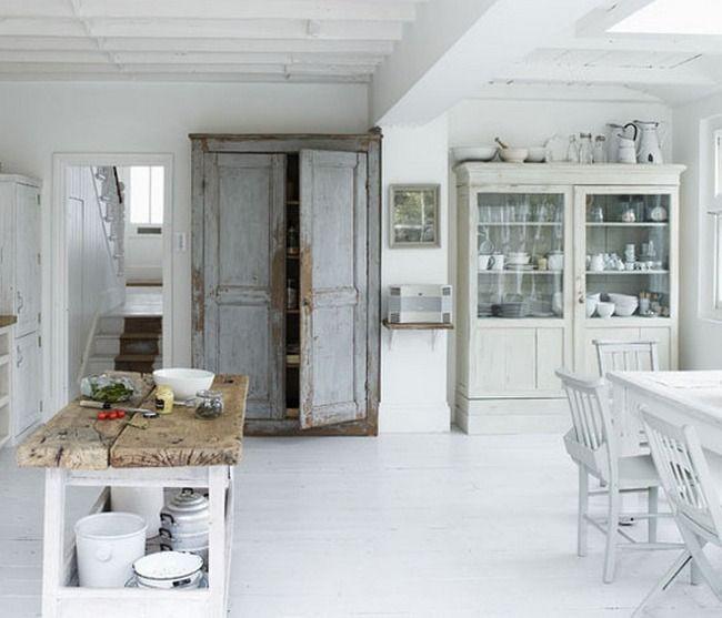 Salvagded wood doors on pantry!