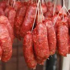 FILIPINO LONGANISA SAUSAGE.... Ingredients ~2 lbs lean pork meat coarsely ground or chopped and chilled ½ to 1 lb pork fat, diced ¼ tsp. salitre (available in drug stores as salt peter) 2-3 cloves garlic, minced ⅓ t. ground bay leaf or 1 leaf finely chopped 3 T brown sugar 2 T achuete oil or 1 T achiote paste (see note below) ⅛ cup soy sauce ⅛ cup rice or white vinegar 1½ t salt 1 t paprika 1 t black pepper 1 t red pepper flakes sausage casing~~