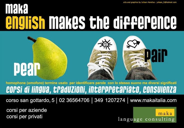 homophone: pear-pair >corsi di lingua inglese a milano