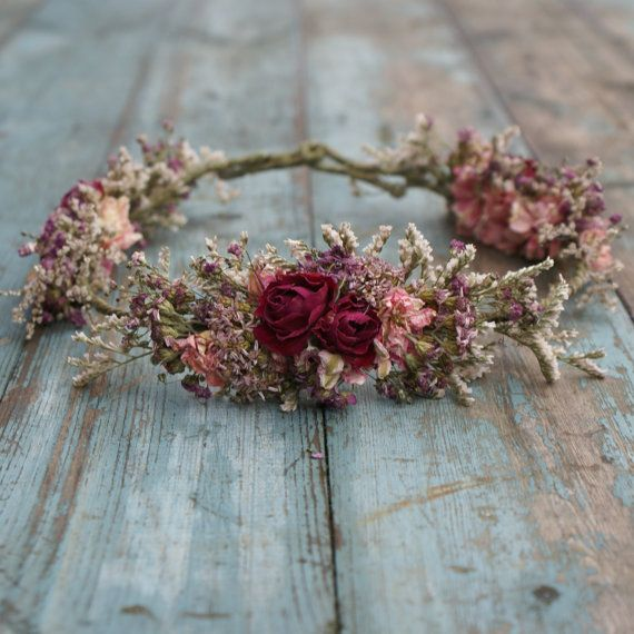Summer Haze Dried Flower Hair Crown by EnglishFlowerFarmer on Etsy