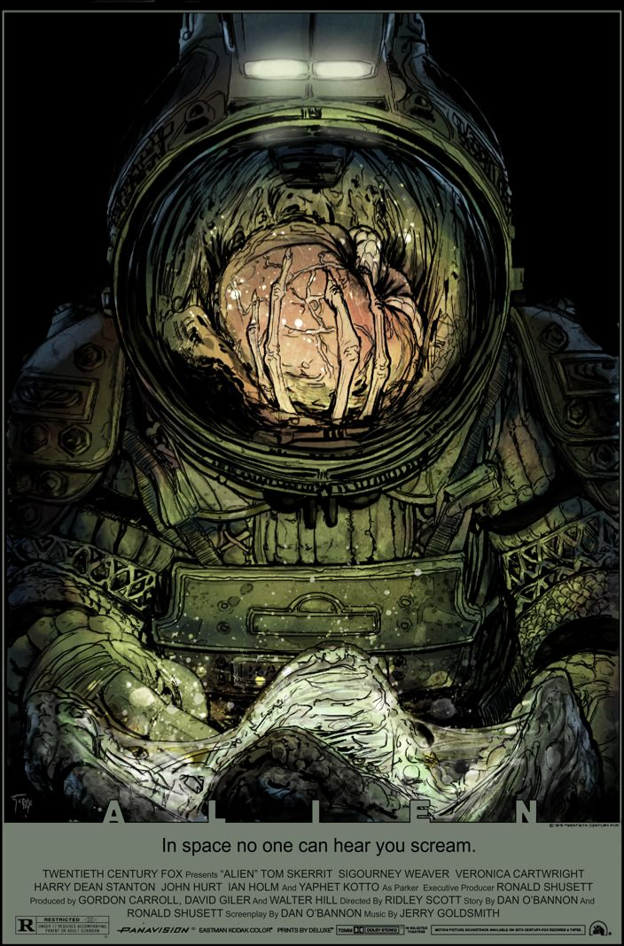 Crazy Cool Fan Poster for Ridley Scott's ALIEN - News - GeekTyrant