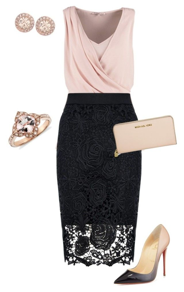 Untitled #471 by angela-vitello on Polyvore featuring polyvore, fashion, style, Anna Field, Quiz, Christian Louboutin, Michael Kors and Givenchy