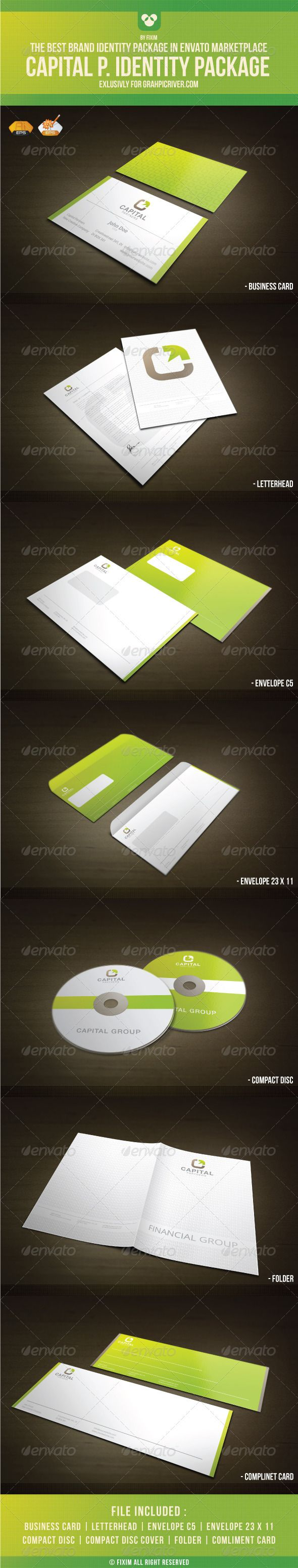 Identity Package GraphicRiver What Do You Get Vector Logo Business
