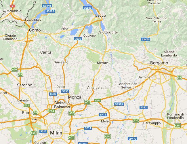 Milano - Lecco in Mountain Bike / Bicicletta - Mappa Percorso Ciclabile