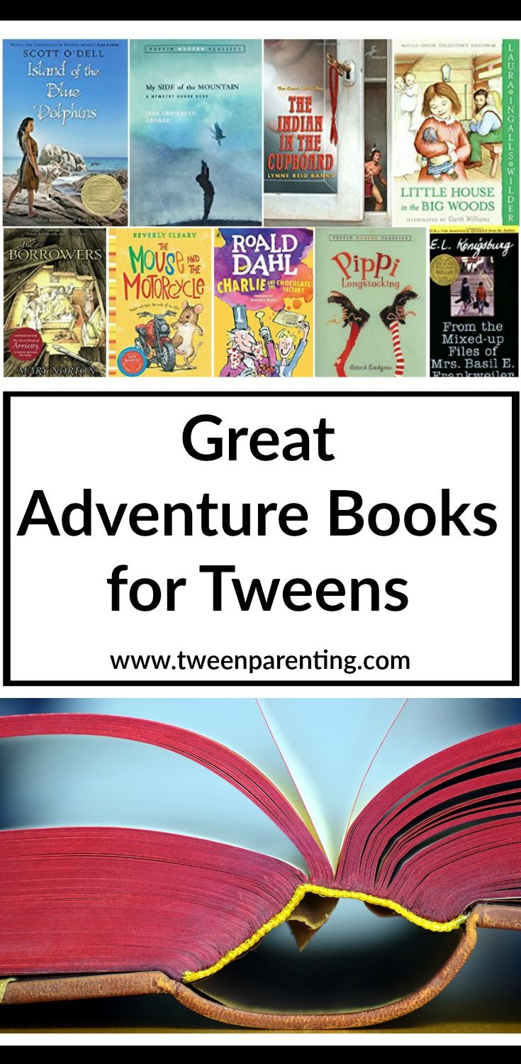 Great adventure books for kids to read. Classic children's books for kids ages 8-12 to read by themselves or for you to read together...