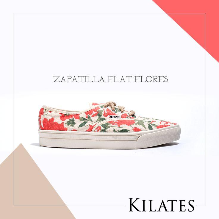 Zapatilla Flat Flores
