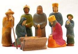 buntspechte - Krippenfiguren aus holz