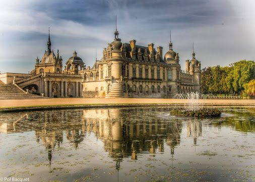 """Chantilly, France. At the magnificent """"Château de Chantilly"""" originally built on 16th century but destroyed during the French Revolution and rebuilt in the 1870s. (ohhh...long History !!) by Pol Bacqueton Google+"""