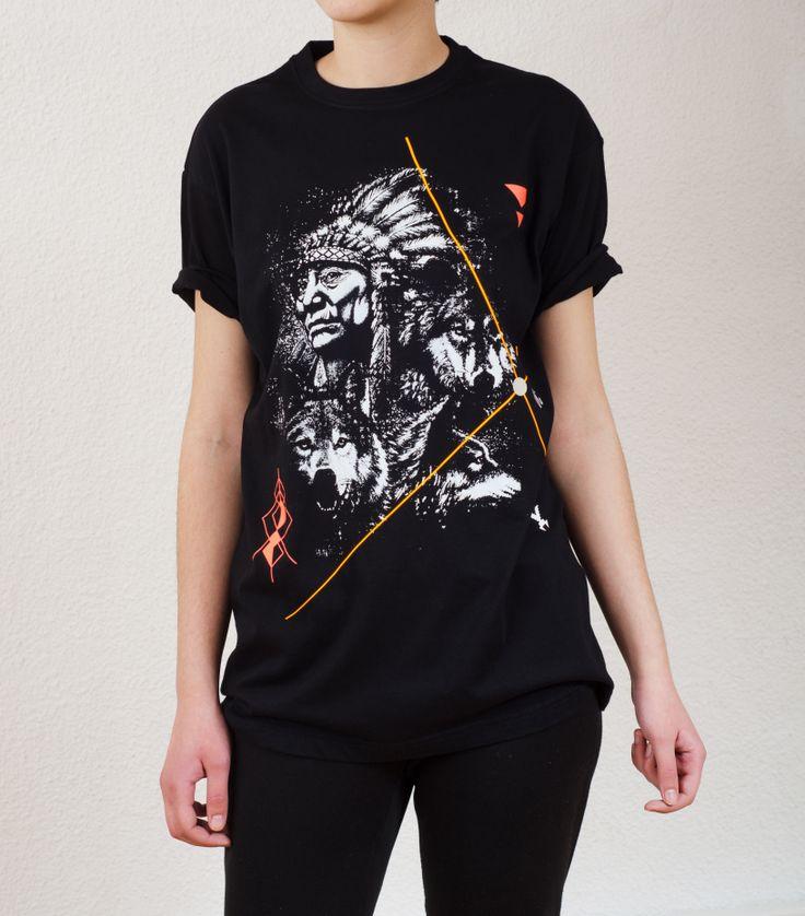 Unisex Black T-Shirt Design : Indian OC