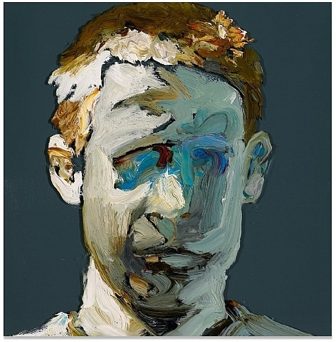 Ray Turner Ray Turner, Untitled Oil on glass 12 by 12 inches