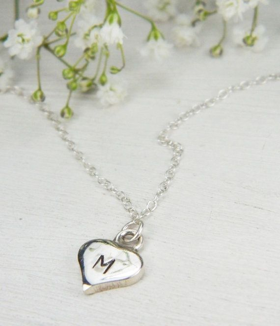 Small Heart Necklace / Delicate by BarakaCustomJewelry on Etsy