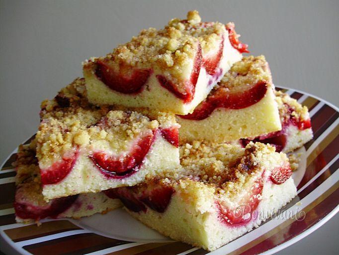 Rýchly slivkový koláč • recept • bonvivani.sk