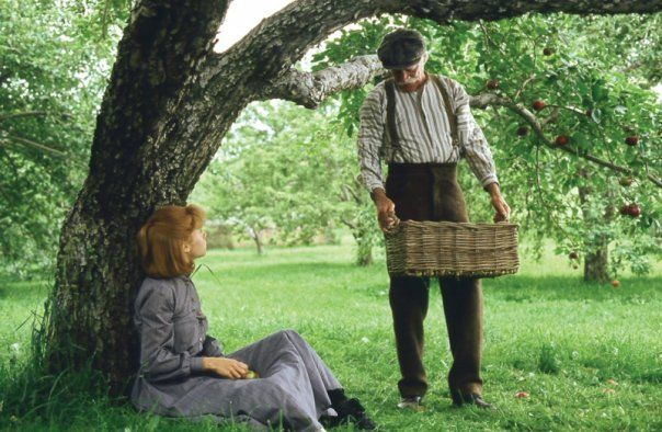 Matthew Cuthbert and I, old memories under the trees of Green Gables.