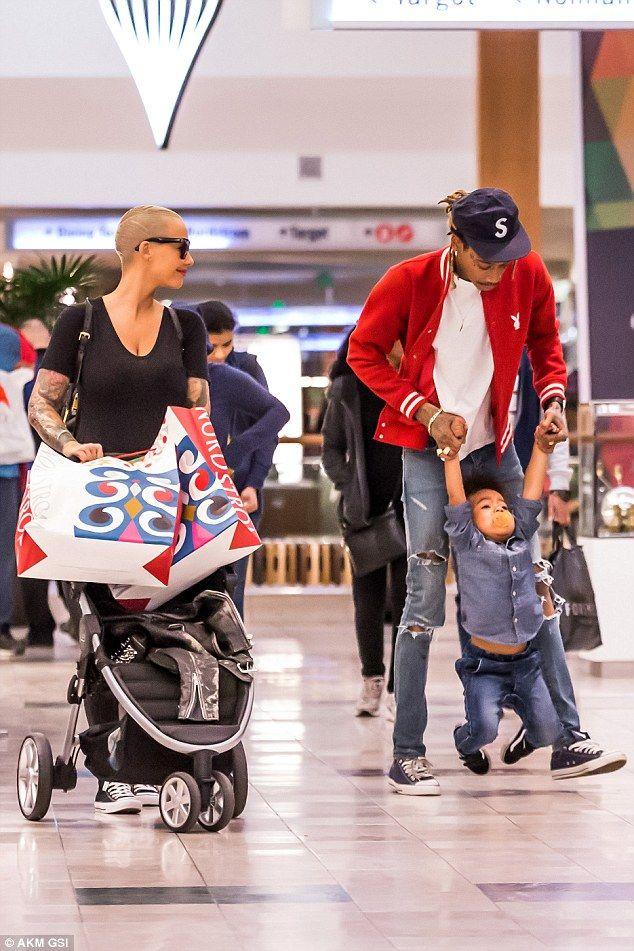 Amber Rose and Wiz Khalifa dote on son Sebastian during ...