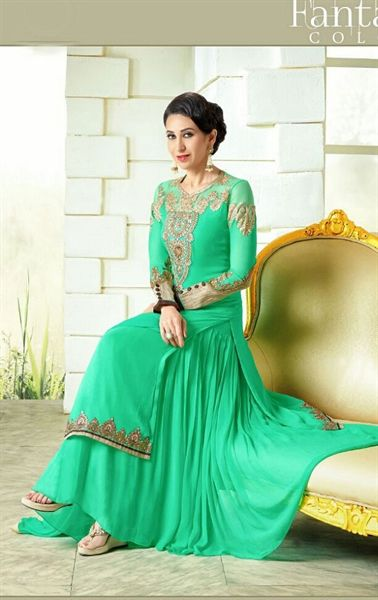 Picture of Tempting Light Green Designer Salwar Kameez