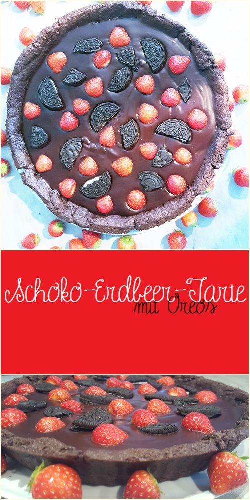 Schoko-Erdbeer-Tarte mit Oreos | Süß & Samtig