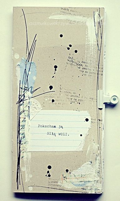 sila_woli handmade album by jaszmurka This would be a great design on a rectangular plate, without the notebook paper.