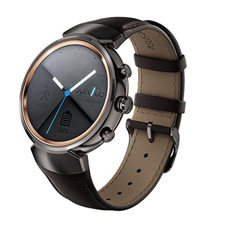 """Asus ZenWatch 3 Smartwatch 1,39"""" Bluetooth Marron foncé 2017 #2017, #Montresbracelet http://montre-luxe-femme.fr/asus-zenwatch-3-smartwatch-139-bluetooth-marron-fonce-2017/"""