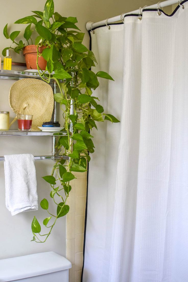 Diy Shower Curtain Upgrade With Images Diy Shower Curtain