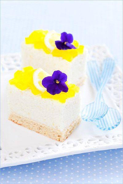 Лимонно-ванильные пирожные