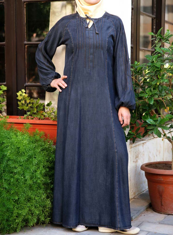 Tayyiba Tencel Denim Dress via www.ShukrClothing.com
