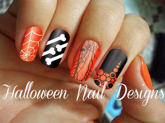 Gorgeous and Ghastly Halloween Nail Art Designs