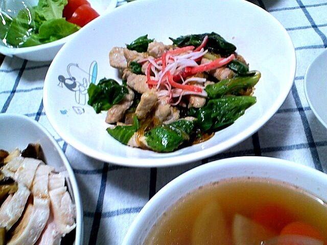 手前のお汁はどんこのお出汁でとろみスープ( ´ ▽ ` )お急ぎご飯。 - 3件のもぐもぐ - 春雨と豚肩の中華炒め by ein +α