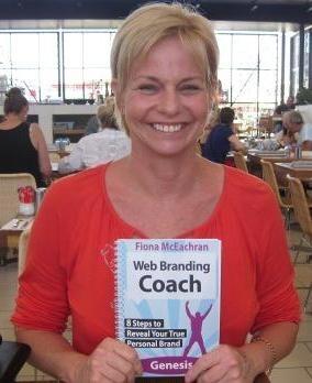 Kristine Fletcher-Wode with Web Branding Coach Book