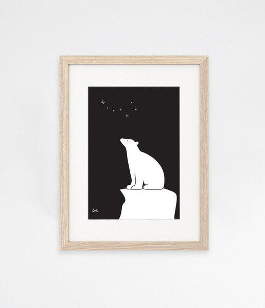 Sne design Polar bear wall-art / print / poster