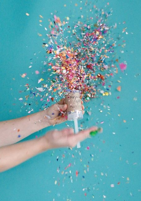 """Surprise!"" ""Happy Birthday!"" ""Happy New Years!"" On any occassion, this would be too fun!! It's reusable! What?!! The Original Push-Pop Confetti #affiliate #party #birthdayparty #newyears #surpriseparty"