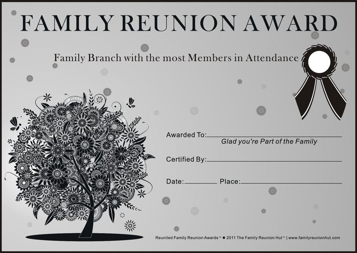 Family reunion ideas family reunion certificates oak passion 2 is a free family reunion for Free printable family reunion certificates