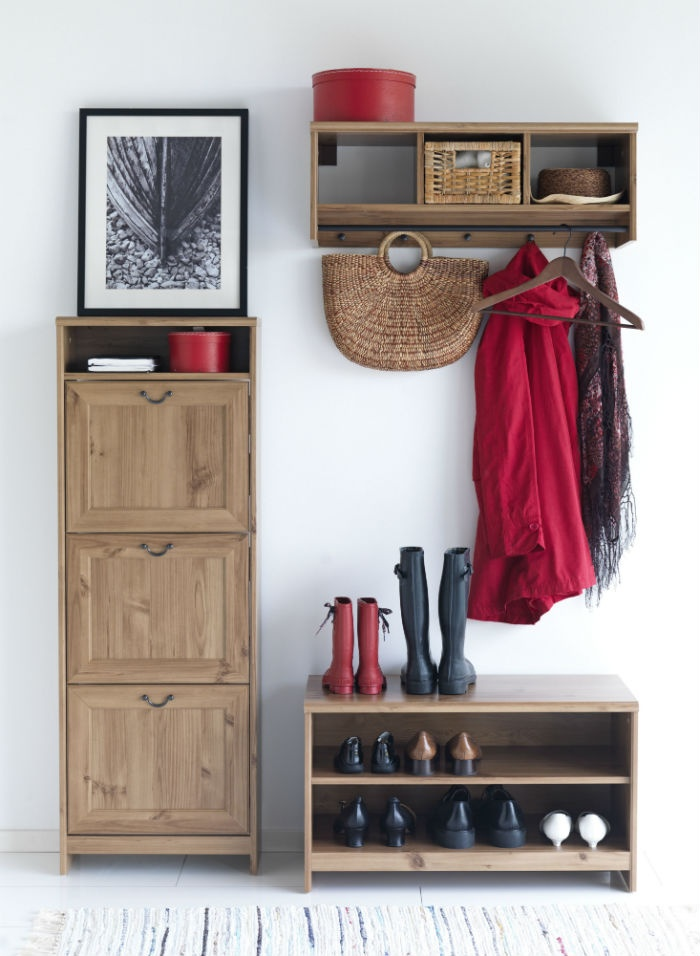 keep your hallway organized and save floor space with the grevbck series