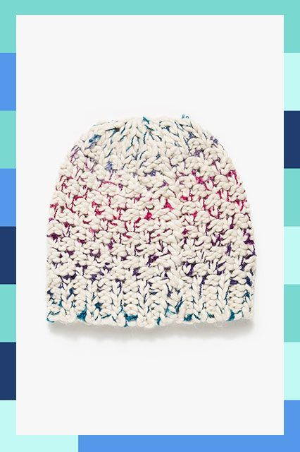 Keep your color pop subtle with the hidden gradient in this knitted cap. #refinery29 http://www.refinery29.com/cool-beanies#slide-4