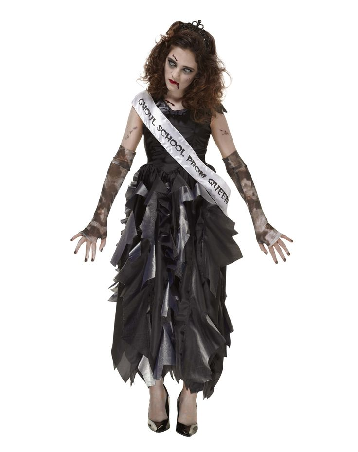 luckily all you have to do is wear this awesome zombie prom queen girls costume tattered black dress - Halloween Costumes With A Black Dress